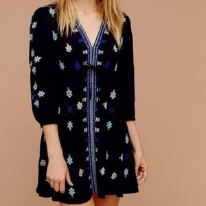 Free People Embroidered Stargazer Mini Dress